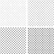 Seamless Pattern Pois White An...