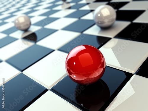 kulki-na-szachownicy-3d