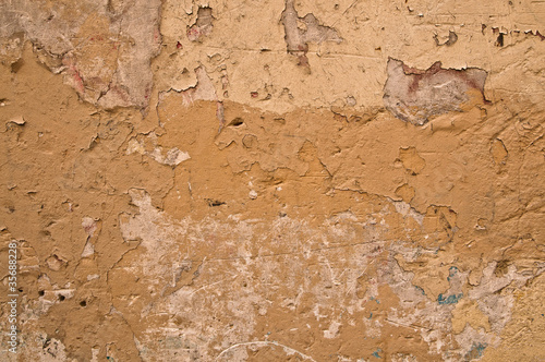 Poster Vieux mur texturé sale Brown grungy wall - Great textures for your design.