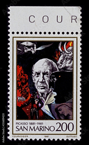 Fotografía  Postage stamp.