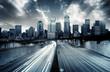 canvas print picture Futuristic Cityscape