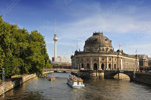 Keuken foto achterwand Berlijn Bode Museum on Museum Island with TV Tower in background, Berlin