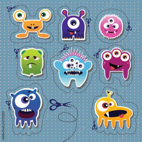 Poster de jardin Creatures Monster collection