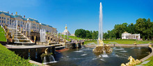 The Grand Cascade Fountain At Peterhof