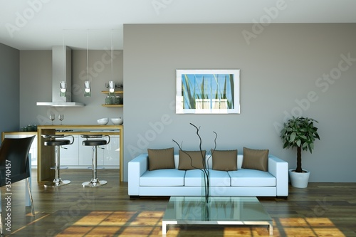 Wohndesign Sofa Weiss Im Loft Buy This Stock Illustration And