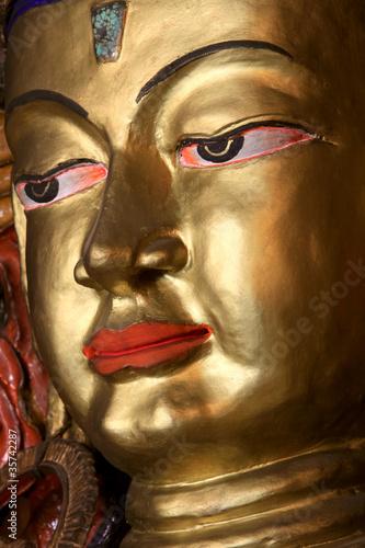 Cadres-photo bureau Inspiration painterly Gold Buddha face