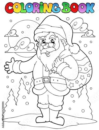 Türaufkleber Zum Malen Coloring book Santa Claus theme 1