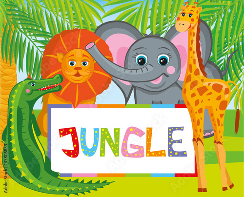 La pose en embrasure Forets enfants jungle