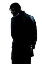 Silhouette Man Portrait Backsi...