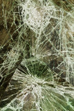 Glass cracked broken