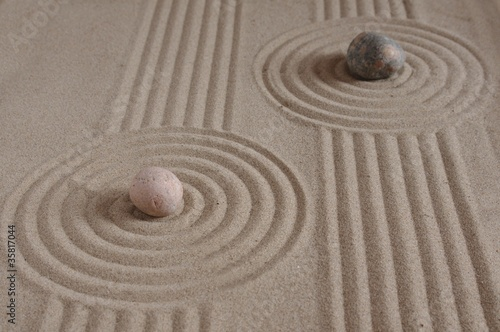 Deurstickers Stenen in het Zand two stones