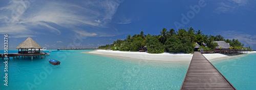 Foto-Schiebegardine Komplettsystem - Malediven (von Ben Burger)