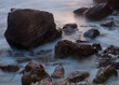 Calming rocky sea coast