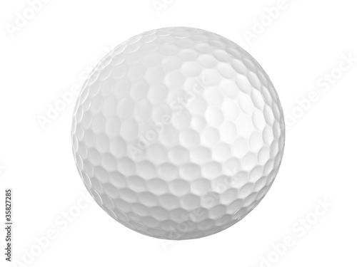 Golf Ball With Neon Light Fototapet