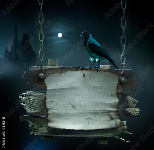 Fotobehang Volle maan design background for Halloween party