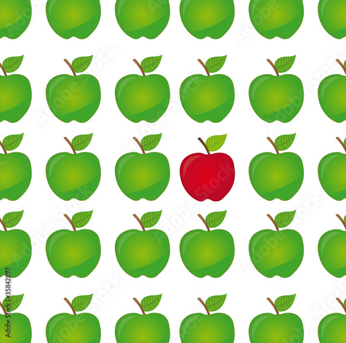 difference apple vector - 35842897