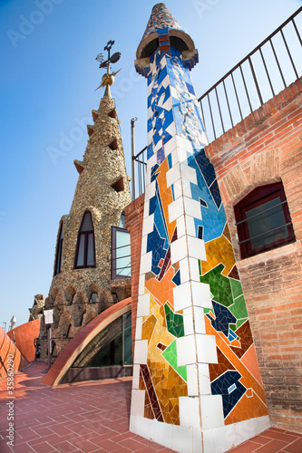 Photo  The arched roof and complex chimney  in Spain
