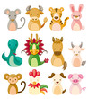 12 animal icon set,Chinese Zodiac animal ,
