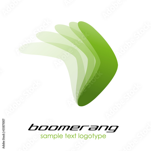 Photo Logo boomerang # Vector