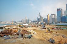 Construction Site In Hong Kong