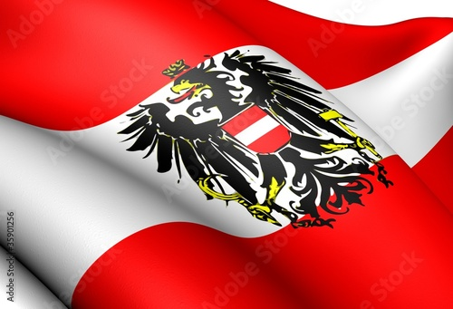 Fotografie, Obraz  Flag of Austria