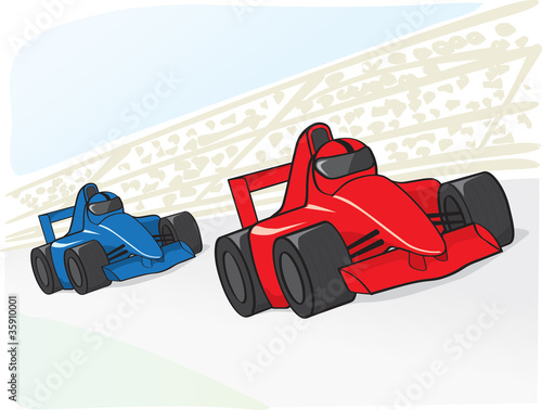 Deurstickers Cars racing cars