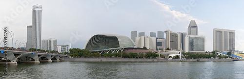 Obraz na plátne  Skyline Singapore