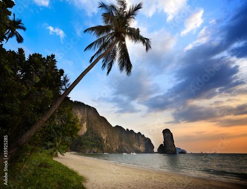 Fototapeta sunset in krabi province Thailand
