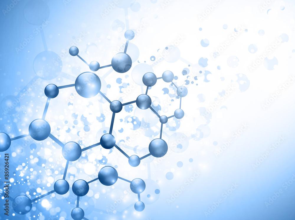 Fototapeta molecule