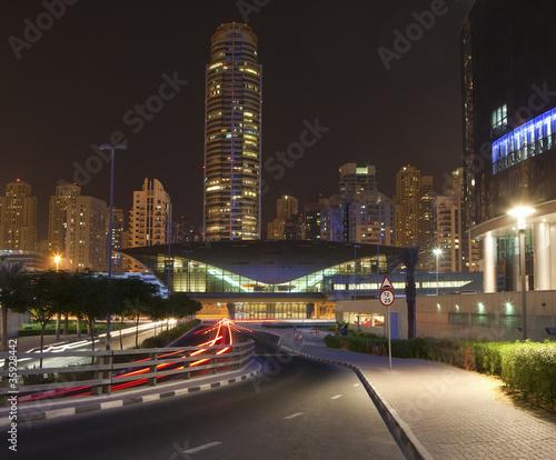 Obrazy na płótnie Canvas Dubai city at night time