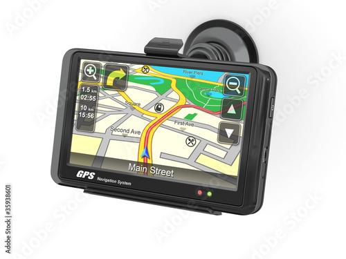 Fotografia  Navigation system. Gps. 3d