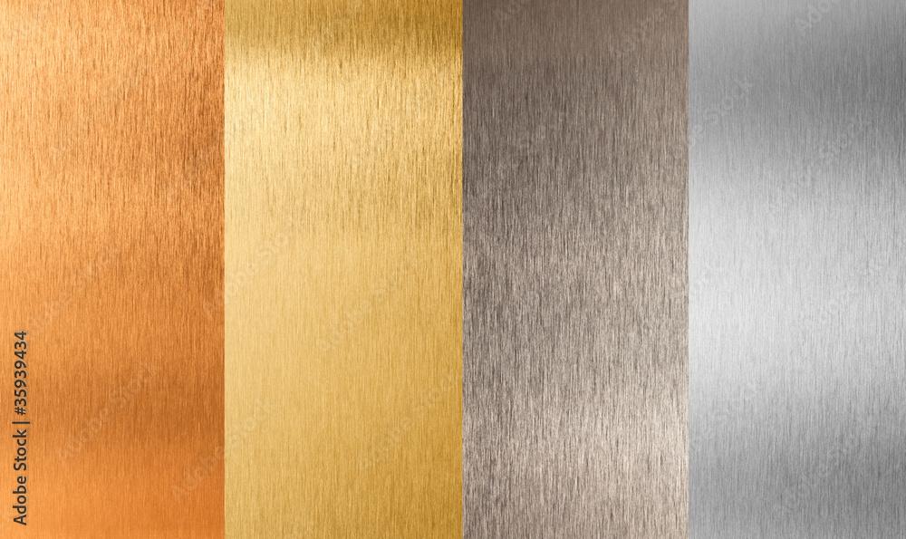 Fototapeta gold silver bronze nonferrous metal set