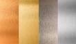 gold silver bronze nonferrous metal set