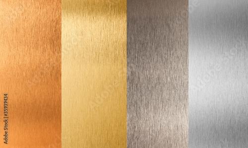 gold silver bronze nonferrous metal set Wallpaper Mural