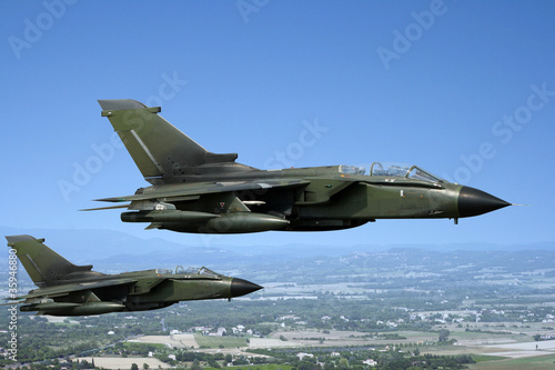 Two fighter jets Canvas Print