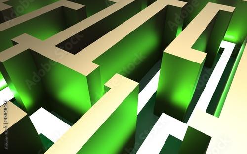 Fotografie, Obraz  labyrinth green