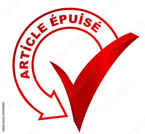 Fotografie, Obraz  article épuisé sur symbole 3d rouge