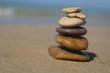Stones pyramid at the beach