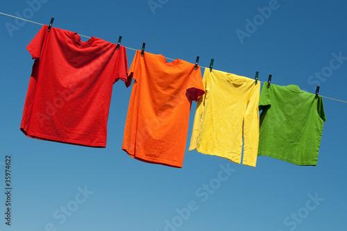 Fotografia, Obraz  Joyful summer laundry
