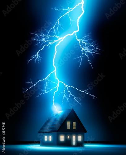 Obraz Blitzschlag 1 - fototapety do salonu