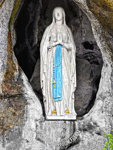 Madonna di Lourdes Canvas Print