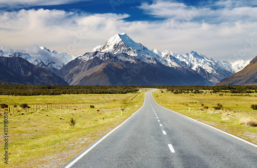 Poster Oceanië Mount Cook, New Zealand