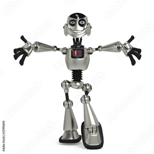 Photo sur Aluminium Robots funny robot in give me a hug