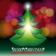 Leinwanddruck Bild Beautiful Christmas Tree Illustration