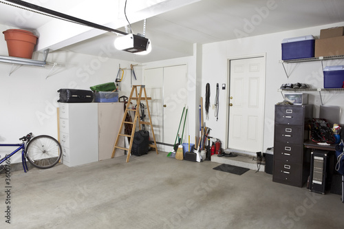 Clean Garage Canvas Print