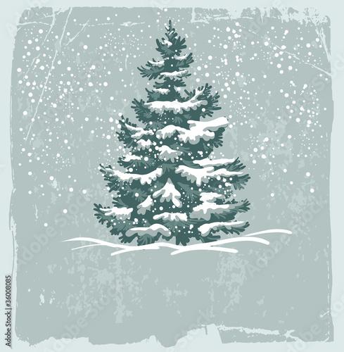 Vintage Christmas card - 36008085
