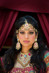 FototapetaPortrait of a beautiful Indian Bride