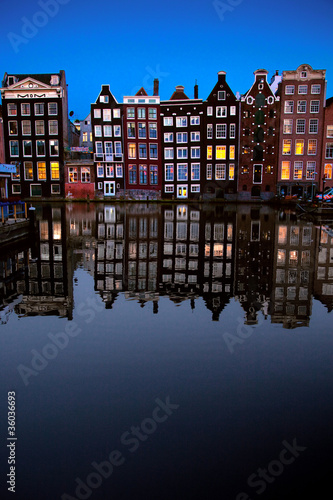 Photo  Canal Buildings in Amsterdam