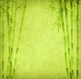 Fototapeta Sypialnia - design of chinese bamboo trees with texture of handmade paper