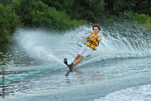 Fotografie, Obraz  waterskiing